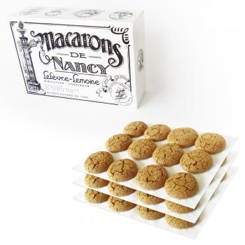 Nos boîtes de trois douzaines de Macarons de Nancy. Poids : 0,75 kg
