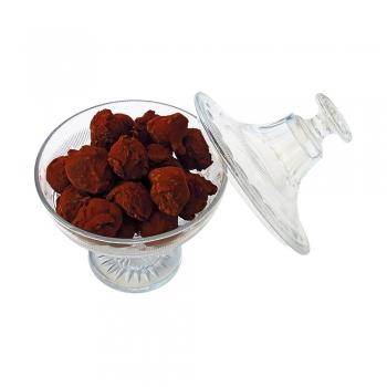 Un sachet de truffes à la bergamotte. Suggestion de présentation.