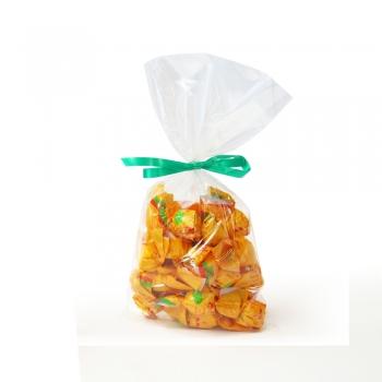 Un sachet de 200 grs de bonbons à la mirabelle. Suggestion de présentation.